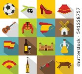 flat illustration of 16 spain... | Shutterstock .eps vector #541338757