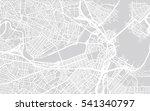 urban city map of boston  usa | Shutterstock .eps vector #541340797