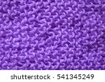Violet Knitted Background