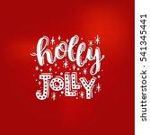 merry christmas card. vector... | Shutterstock .eps vector #541345441