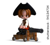 sweet and funny cartoon pirate... | Shutterstock . vector #54134734