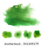 set of bright green transparent ...   Shutterstock . vector #541349179
