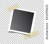 photo frame with adhesive tape  ... | Shutterstock .eps vector #541359631