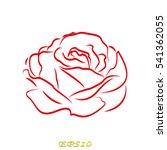 rose flower  icon  vector...