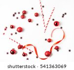 christmas composition isolated... | Shutterstock . vector #541363069