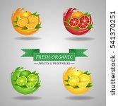 fresh fruits icon  orange  lime ... | Shutterstock . vector #541370251