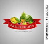 fresh fruits background.  | Shutterstock . vector #541370269