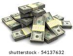 3d Illustration Of Dollar...