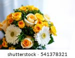 Wedding Bouquet With Yellow...