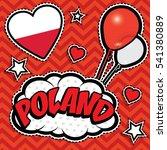 happy birthday poland   pop art ... | Shutterstock .eps vector #541380889