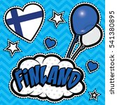 happy birthday finland   pop... | Shutterstock .eps vector #541380895