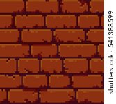 pixel art brick wall texture... | Shutterstock .eps vector #541388599