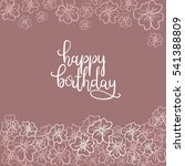 happy birthday hand lettering... | Shutterstock .eps vector #541388809