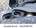 ice skating is a popular winter ... | Shutterstock . vector #541398154