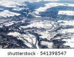 winter aerial view of the... | Shutterstock . vector #541398547