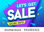 let's get sale banner. sale and ... | Shutterstock .eps vector #541401421