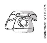 telephone service isolated icon ... | Shutterstock .eps vector #541410475