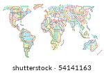 editable vector illustration of ... | Shutterstock .eps vector #54141163