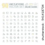 vector graphic set of icons in... | Shutterstock .eps vector #541418734