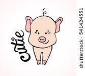 cute hand drawn little wolf... | Shutterstock .eps vector #541424551