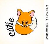 cute hand drawn little wolf... | Shutterstock .eps vector #541424575