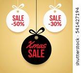 christmas balls sale. special... | Shutterstock .eps vector #541427194