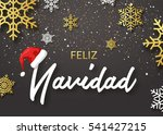 merry christmas poster design.... | Shutterstock .eps vector #541427215