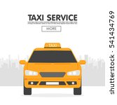 yellow taxi car in front of... | Shutterstock .eps vector #541434769