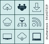 set of 9 world wide web icons....   Shutterstock .eps vector #541437319