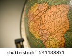 macro shot of wold globe  with... | Shutterstock . vector #541438891