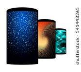 set of realistic smartphones... | Shutterstock . vector #541443265