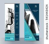 set business roll up banner... | Shutterstock .eps vector #541443424