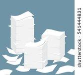 paper pile flat illustration.... | Shutterstock .eps vector #541444831