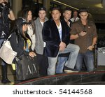 Small photo of LOS ANGELES - FEBRUARY 23 : Top rated television show Jersey Shore cast mates Snooki, Sammi, Vinny, Ronnie, Mike and DJ Pauly D at LAX February 23, 2010 in Los Angeles, California