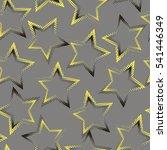 hearts pattern on grey... | Shutterstock .eps vector #541446349