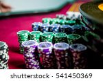 casino chips colorful gaming... | Shutterstock . vector #541450369
