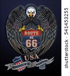 america's highway usa eagle | Shutterstock .eps vector #541453255