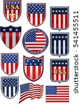 united states of america symbol | Shutterstock .eps vector #541455511