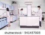 young laboratory assistant... | Shutterstock . vector #541457005