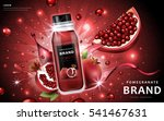 pomegranate juice ads ... | Shutterstock .eps vector #541467631