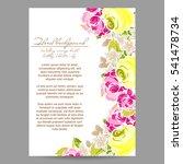 vintage delicate invitation... | Shutterstock . vector #541478734