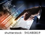 businessman hand touching with... | Shutterstock . vector #541480819