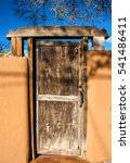 Small photo of Santa Fe adobe house door