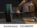 cropped shot of sporty young... | Shutterstock . vector #541488589