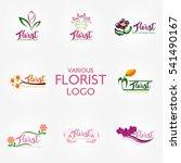 florist logo design template.... | Shutterstock .eps vector #541490167