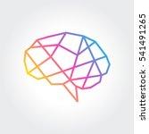 brain logo silhouette design... | Shutterstock .eps vector #541491265