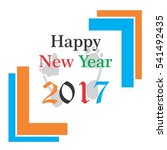 happy new year letter vector... | Shutterstock .eps vector #541492435
