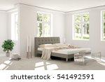 white bedroom with green... | Shutterstock . vector #541492591