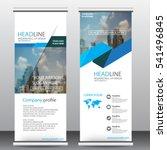 roll up business brochure flyer ... | Shutterstock .eps vector #541496845