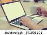 close up focus employee man... | Shutterstock . vector #541505101